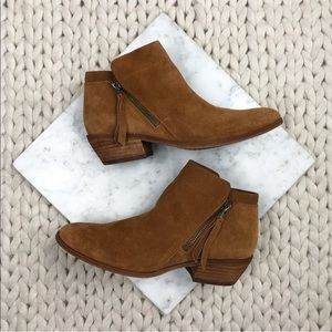 Sam Edelman Chestnut Suede Packer Ankle Bootie